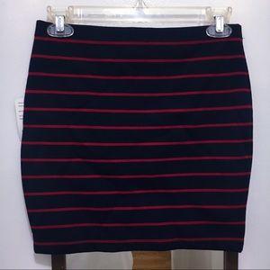 🌹[NEW] Navy Blue/Red Mini Bodycon Skirt BOGO50%